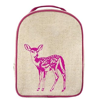 SoYoung Toddler Lunch Box Fawn - Raw Linen, Pink by SoYoung