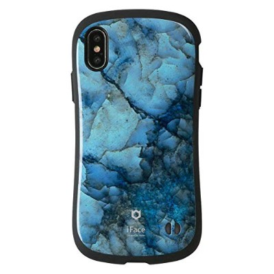 iFace First Class Marble iPhone X ケース 耐衝撃/ブルー