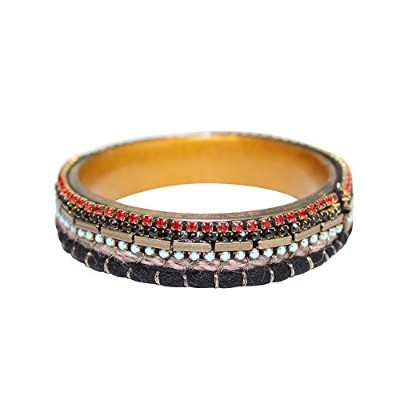 Private Label Womens Multi Colored Beaded Bangleマルチ