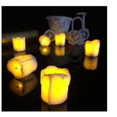 4.34.5CM Battery Powered Flameless LED Candle Tea夜ライトハロウィンクリスマスデコレーションby shopidea