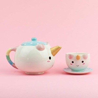 Smoko Elodie Unicorn Teapot Serving Set With One Cup and Saucer