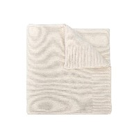 Stone Island Junior knitted patch embellished scarf - ホワイト