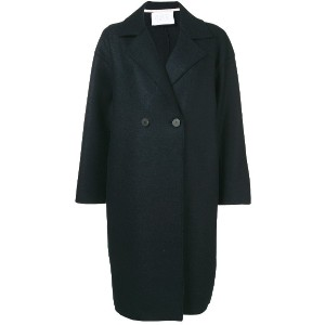 Harris Wharf London two button double breasted coat - ブルー