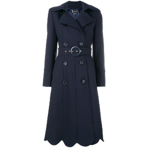 Elisabetta Franchi belted double-breasted coat - ブルー