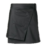 Paco Rabanne mini wrap skirt - ブラック