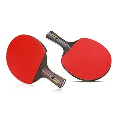 Slec tech2 Bats Paddles Rackets & 3 Balls & 1 Bag for Table Tennis Ping Pong Competition Training...