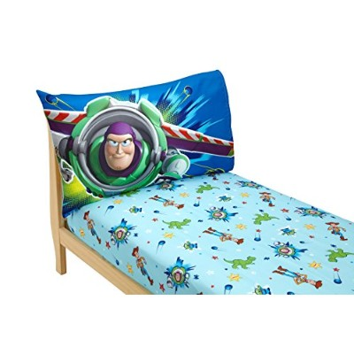 (Toy Story - Power Up) - Disney Toy Story Power Up 2 Pack Fitted Sheet and Pillowcase Toddler Sheet...