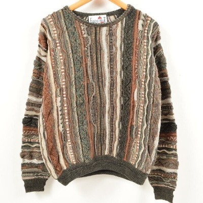 FLORENCE TRICOT クージー風 総柄 コットンニットセーター メンズXL /wal1283 【中古】 【180809】