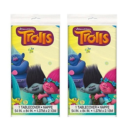 Trolls Party Table cover 210cm X 1380cm , 2 Pack
