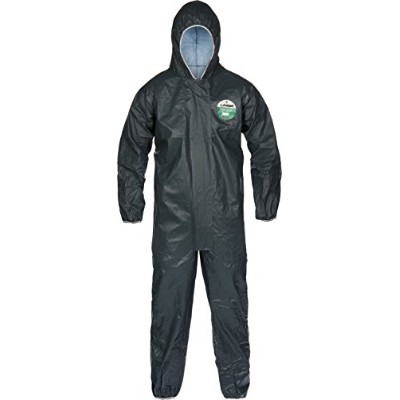 Lakeland Pyrolon CRFR Flame-Resistant Disposable Coverall with Hood, Elastic Cuff, 5X-Large, Slate...