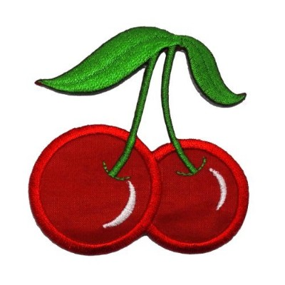 Cute Cherry DIY Applique Embroidered Sew Iron on Patch CR-001 by Cherry by PA International Trading...
