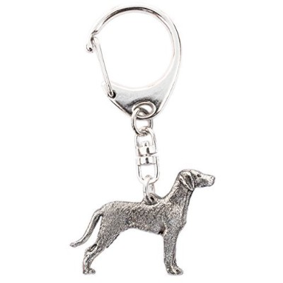Weimaraner ( with Tail ) Made in u.k Artisticスタイル犬キーリングコレクション