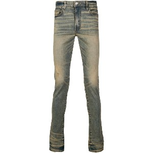 Amiri faded skinny jeans - ブルー