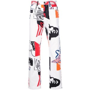 Calvin Klein 205W39nyc graphic jeans - ホワイト