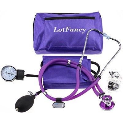 LotFancy Aneroid Sphygmomanometer & Sprague Stethoscope Kit by LotFancy