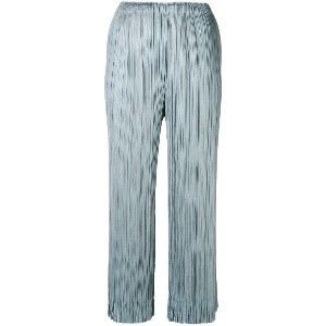 Pleats Please By Issey Miyake fringed culottes - ブルー