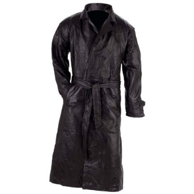 The buttery soft feel of this Giovanni Navarre Italian Stone Design Genuine Leather Trench GFTRM