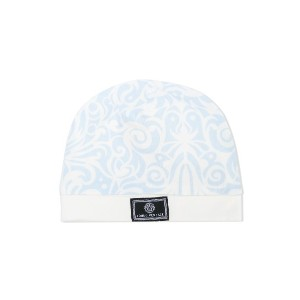 Young Versace patterned knit hat - ホワイト