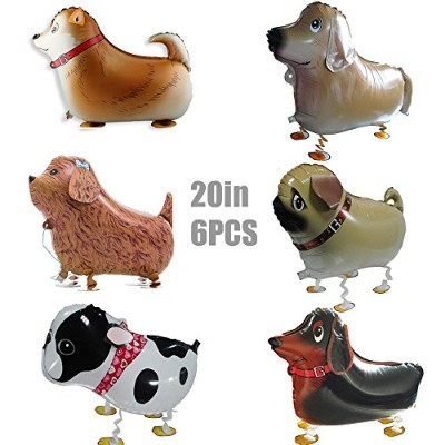 (Dog Set) - Walking Animal Balloons Pet Dog Balloons - 6 Pieces Puppy Dog Balloons Toys Air Walkers...