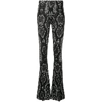 Circus Hotel snake effect trousers - ブラック