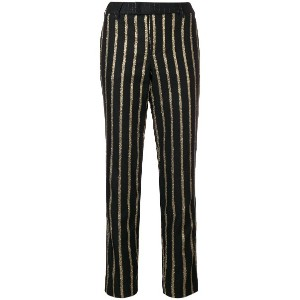 Zadig & Voltaire striped tailored trousers - ブラック