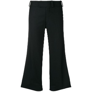 Junya Watanabe flared cropped trousers - ブラック