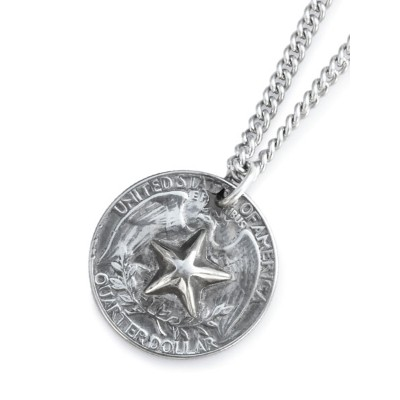 amp japan(アンプ ジャパン)【Bump Out Star 25c Necklace [HYJKS-106] / バンプ アウト スター 25セント ネックレス】[正規品](ペンダント...