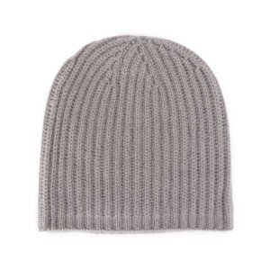Warm-Me cable knit beanie - グレー