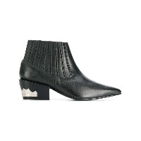Toga pointed Western ankle boots - ブラック