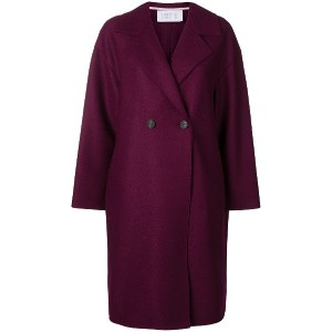Harris Wharf London oversized single-breasted coat - ピンク