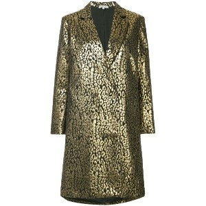 Layeur metallic double breasted coat - メタリック