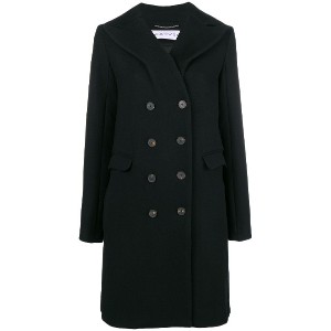 Carven double breasted coat - ブラック