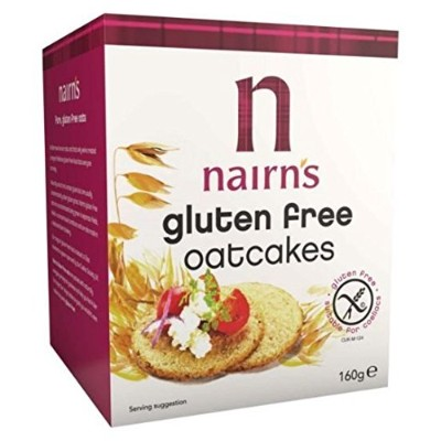 Nairns G/F Oatcakes Carton 160 g (order 12 for trade outer) / Nairns G / Fのoatcakesカートン160グラム...
