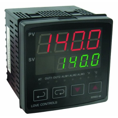 Dwyer Love Series 4B 1/4 DIN Temperature and Process Controller, Current Output and Relay Output by...