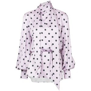 Layeur printed blouse - ピンク