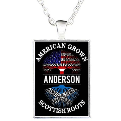Personalized American Grown withスコットランドRootsネックレス