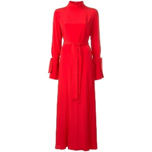 Layeur long empire line dress - レッド