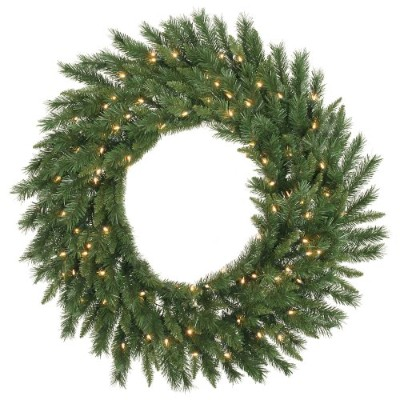"Vickerman pre-lit Imperial Pine Wreath with 35クリアdura-litライト 48"" グリーン A877349LED"