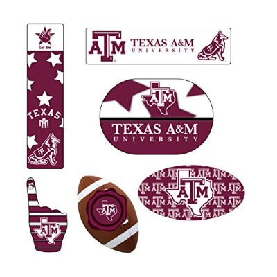 Texas A & M Aggies 6 Piece Peel & Stickデカールテールゲートセット