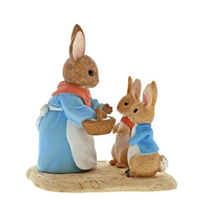 Beatrix Potter Mrs Rabbit, Flopsy and Peter Figurine, Resin, Colourful, 40 x 70 x 70 cm