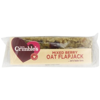 Mrs Crimble's Mixed Berry Oat Flapjack 65 g (Pack of 18)