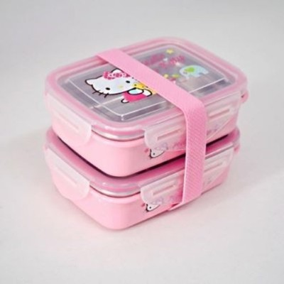 Lock & Lock Hello Kitty Baby Children Bear 2-tier Band Lunch Box LKT751B by LockandLock