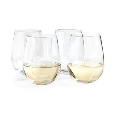 vinjoy Unbreakable Stemless Wine Glasses 16oz (セットof 4 ) – Shatterproof TritanプラスチックパーティーCups