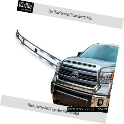 USグリル Fits 2014-2015 Toyota Tundra Hood Scoop Stainless Steel Billet Grille Insert フィット2014...