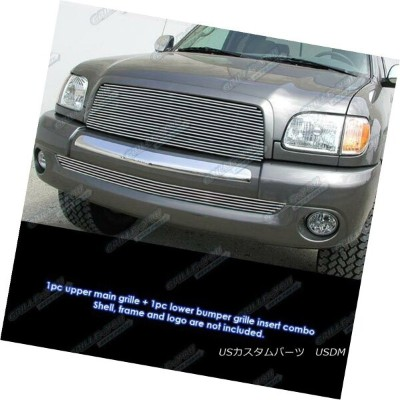 USグリル Fits 2003-2006 Toyota Tundra Billet Grille Grill Combo Insert 2003-2006 Toyota Tundra...