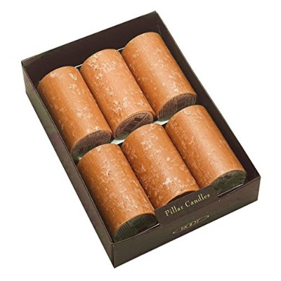 (5.1cm x 7.6cm, Rust) - Root Unscented Timberline Pillar Candles, 5.1cm by 7.6cm Tall, Box of 6,...