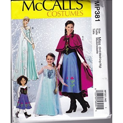 McCall's Costumes MP381 Winter Princesses featuring Anna and Elsa from Frozen (Miss) by McCall's ...
