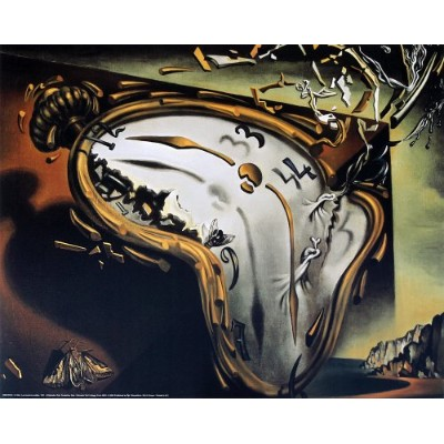 The Melting Watch by Salvador Dali。アートプリントポスター( 19.75X 15.75)