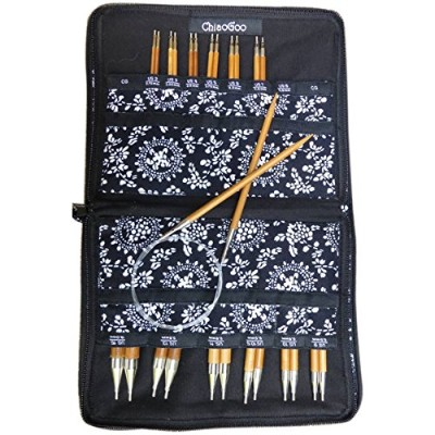 ChiaoGoo Spin Interchangeable Knitting Needle Set Complete: Size US 2 (2.75mm) - Size US 15 (10mm)...
