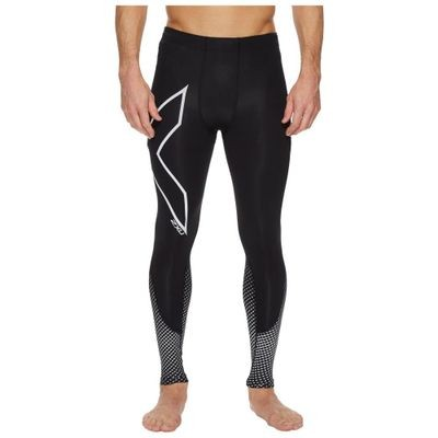 ツータイムズユー タイツ・スパッツ Reflect Compression Tights Black/Silver Reflective